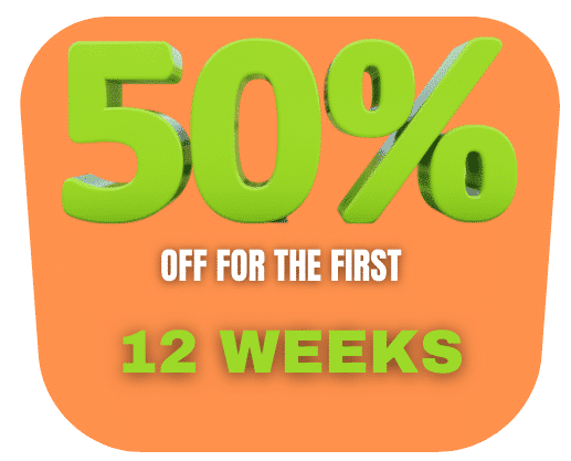 50% Off First 12 Weeks Storage Image