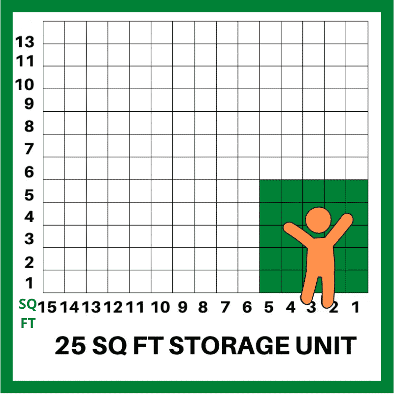 25 SQFT STORAGE UNIT